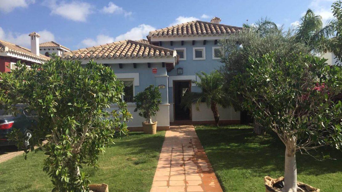 Entrada a Parcela Villa Planta Baja 3 dormitorios Mar Menor Golf