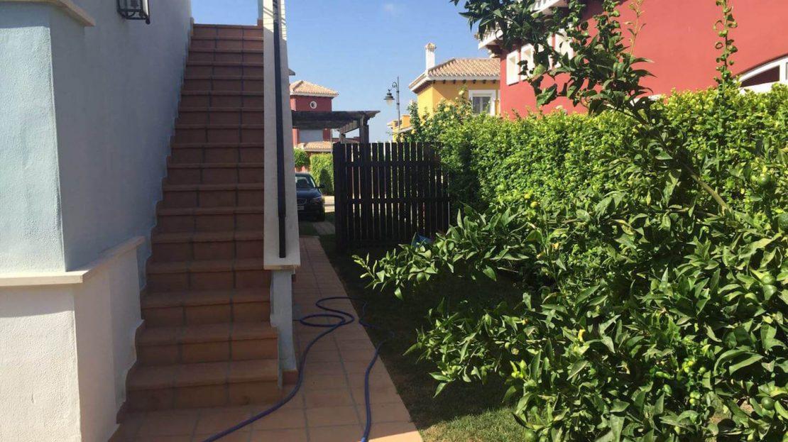 Acceso terraza Villa Planta Baja 3 dormitorios Mar Menor Golf