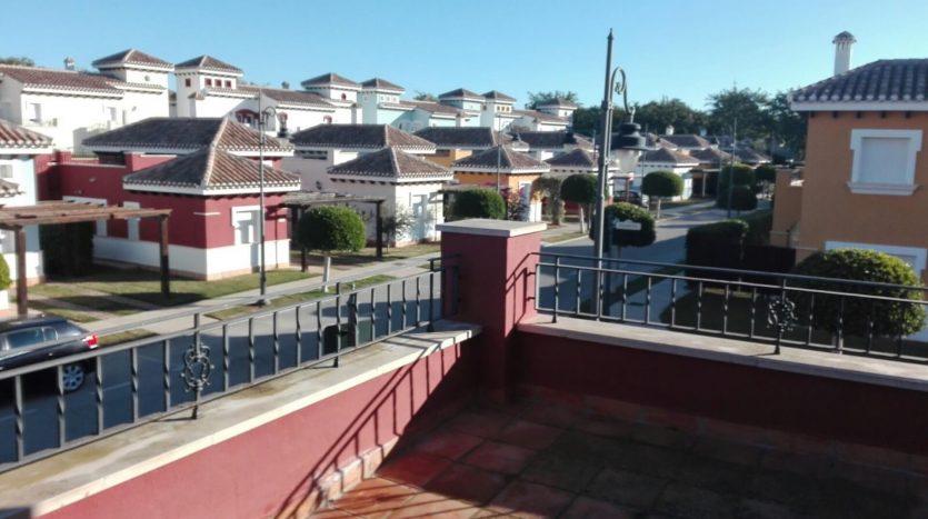 Terraza Dormitorio Villa en Mar Menor Golf Resort Oportunidad para Comprar