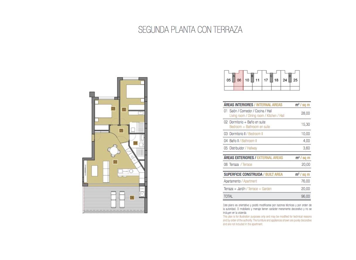 Plano Apartamento 2 + 2