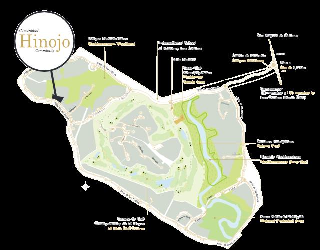 Situacion Comunidad Hinojo en Las Colinas Golf